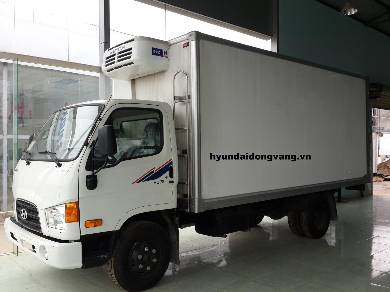 Xe tải Hyundai HD72 đông lạnh nhập khẩu