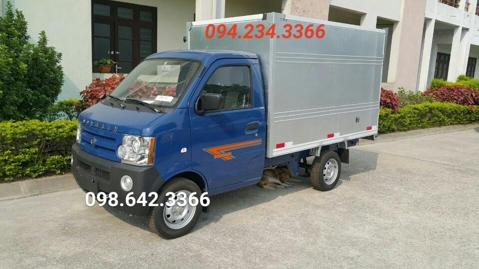Xe tải 7 tạ dongben thùng kín màu trắng