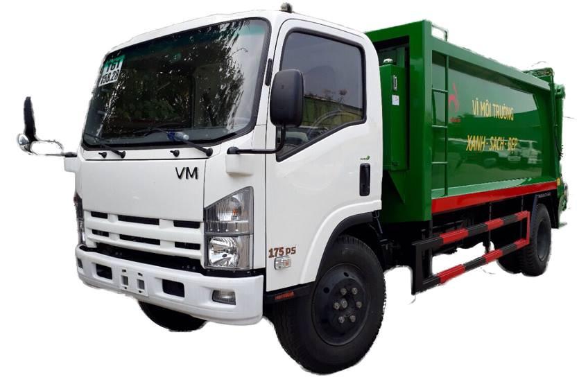 xe isuzu 8 tấn chở rác
