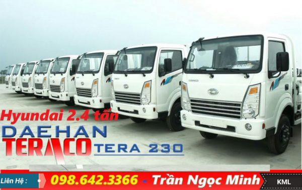 xe tai 2.4 tấn, teraco 230, tera230