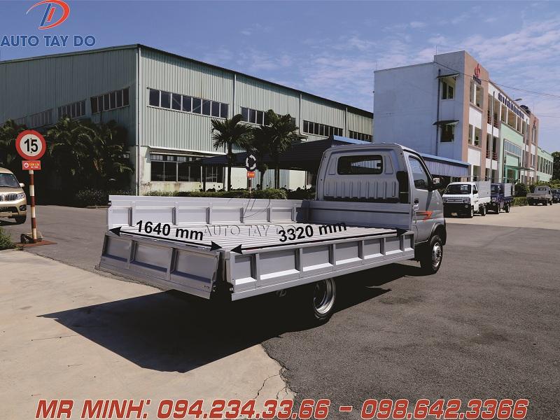 Kích thước thùng Dongben 1.9 t