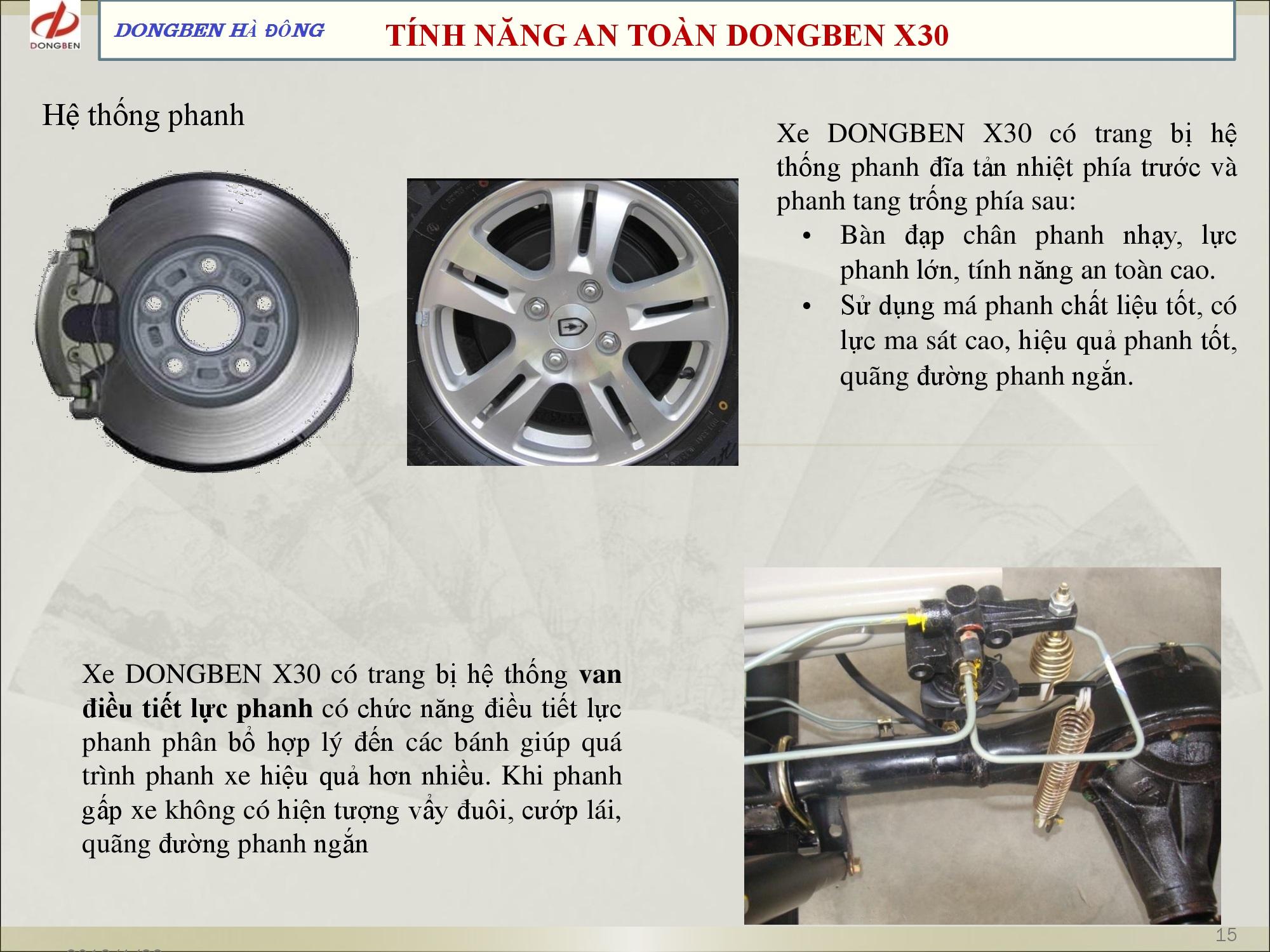 hệ thống phanh dongben x30