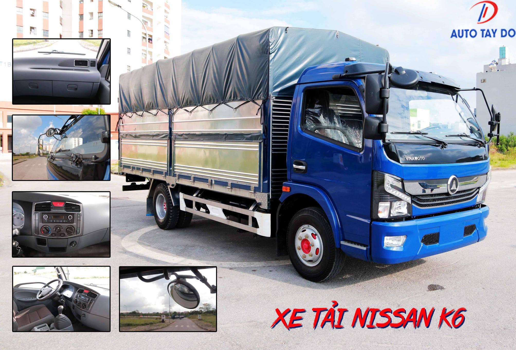 Xe tải Nissan Đồng Vàng 3.5 tấn và 6 tấn Vinamotor K6