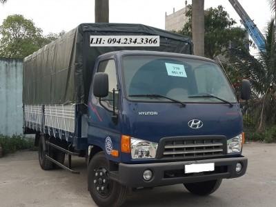 Xe tải Hyundai HD72 Đồng Vàng thùng mui bạt